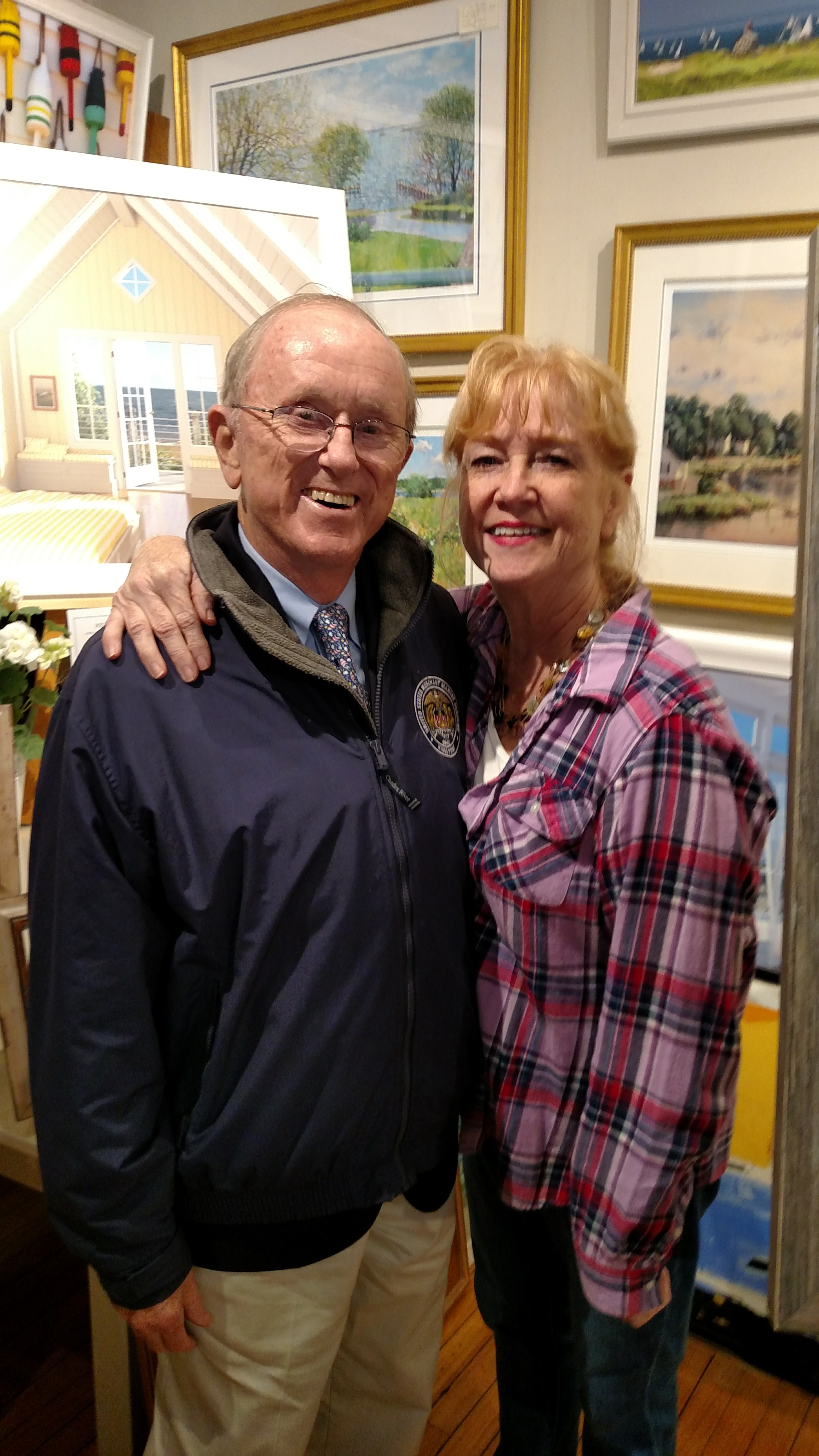 Snagging a picture with maritime artist John Stobart