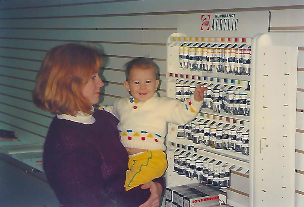 Matt and Mom at Artware Store - Long Hill Rd - Groton