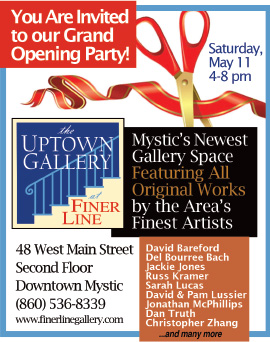Mystic Uptown Gallery Ribbon Cutting